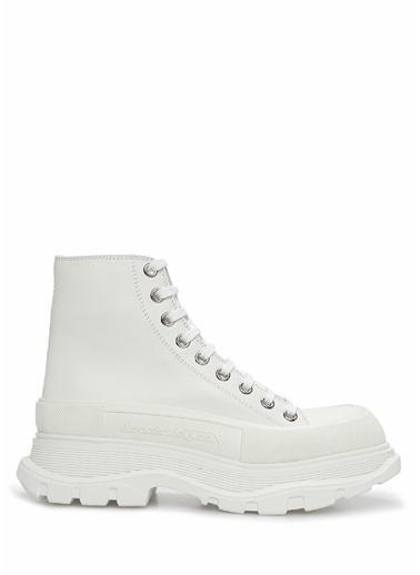 Alexander McQueen Alexander McQueen  Kadın Deri Sneaker 101611784 Beyaz